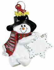 Bird Nest Snowman Personalised Christmas Ornament Individual Christmas Ornaments