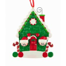 Candy Cane House Personalised Christmas Ornament – Family of 2 Couples
