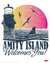 Jaws Amity Island Framed Poster Art