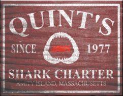 Jaws Quint's Framed Poster Art