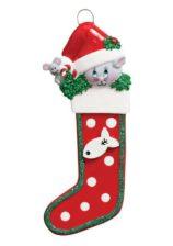 Kitty Stocking Personalised Christmas Ornament Animals