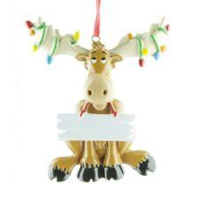 Moose Personalised Christmas Ornament Animals