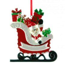 Santa Gift Sleigh Personalised Christmas Ornament Individual Christmas Ornaments