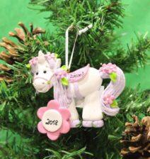 Unicorn Personalised Christmas Ornament Animals